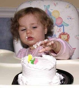 Child not showing table manners