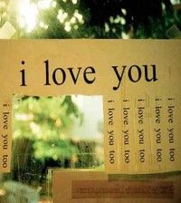 I love you written all over for Valentine's Day