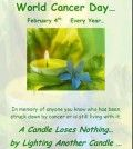 a poster about World Cancer Day