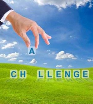 hand putting challenge alphabets