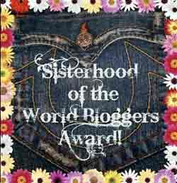 The badge of sisterhood of the world bloggers award