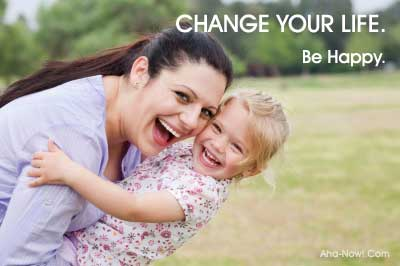 Changing life makes a mother happy with her child