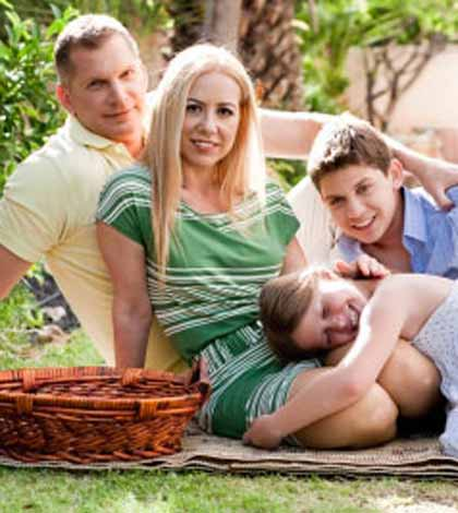 A family like your family together on a picnic
