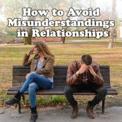 Estranged couple sitting on a bench in park wanting to know how to avoid misunderstandings in relationship