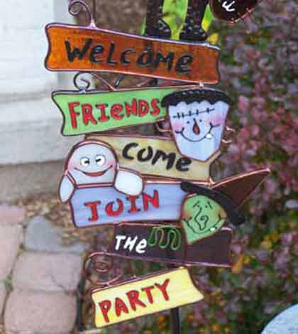 A welcoming signboard as part of cheap party idea