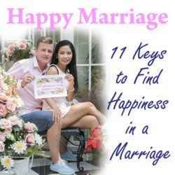A married couple sharing the keys to happiness in a marriage