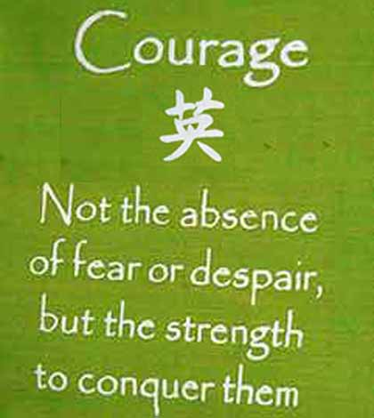 Poster inspiring to be courageous