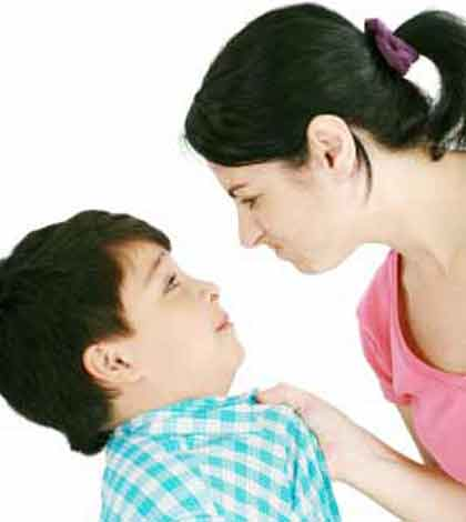 mother using punishment which is not the most effective parenting style to scold her child
