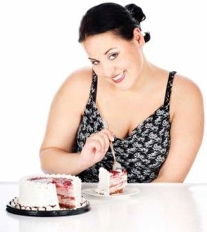 woman trying to stop overeating