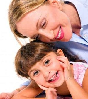 mother showing it is easy to make children listen to you