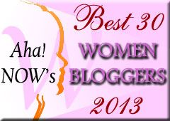 Aha!NOW Top30 Women Bloggers Award picture