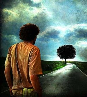a man searching for life options as the path meets a dead end