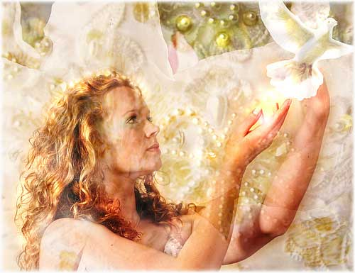 a woman setting free a white pigeon known for peace and love