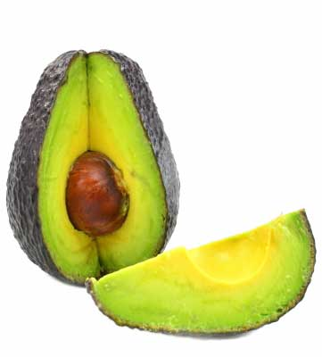 Sliced avocado fruit