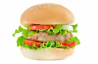 A stuffed burger