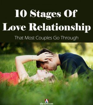 Man and woman in a Stage of love relationship