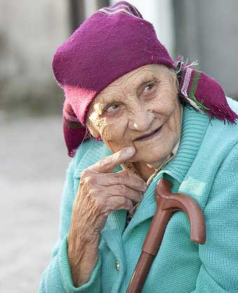 An elderly woman looking for love and respect