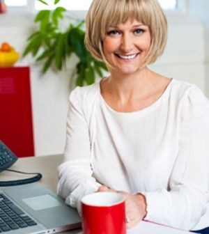 Woman shows how to stop rushing through life in office