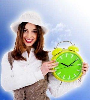 Girl teaching tips for time management