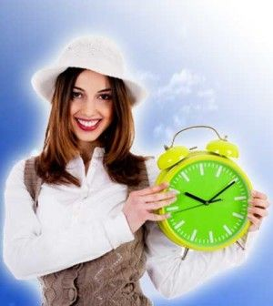 Girl teaching tips for time management