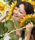 Woman shows how to boost self esteem being happy