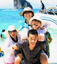 family having things to do on their holiday vacation trip