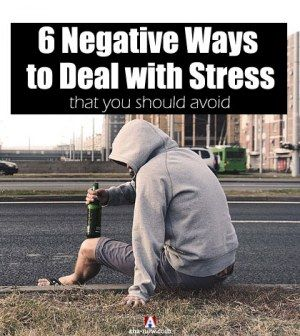 Photo showing drinking man as negative ways to deal with stress
