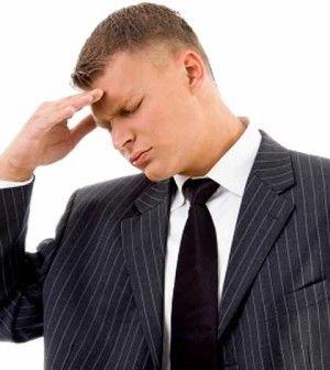 Worried man thinking of ways to reduce stress