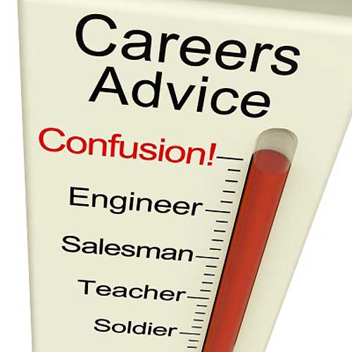 Career meter shows career options