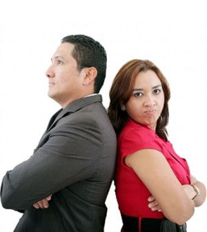 Man and woman having relationship issues