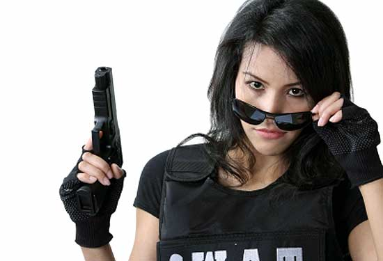 girl with a gun in teen violence
