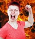 Woman learning how to deal with anger