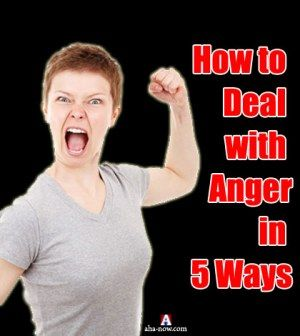 Woman showing how to deal with anger