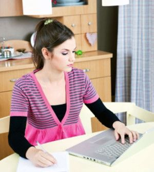 A work-from-home woman finding a work-life balance