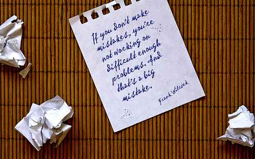 note about making mistake