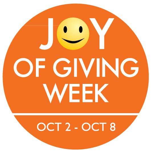 Joy of giving week logo smiley