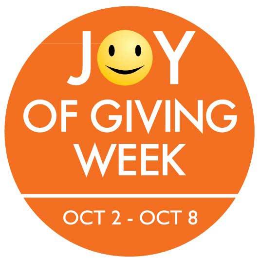 Joy of giving week logo smiley