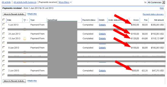 screenshot proof of making money online
