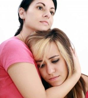 A girl facing family problems seeking help to solve them