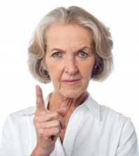 A senior lady emphasizing the home safety for seniors to family