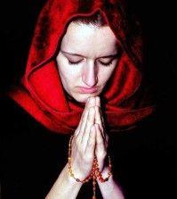A woman praying for healing