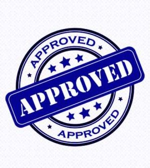 Application approval stamp