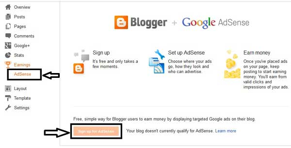 Blogger Google Adsense account approval