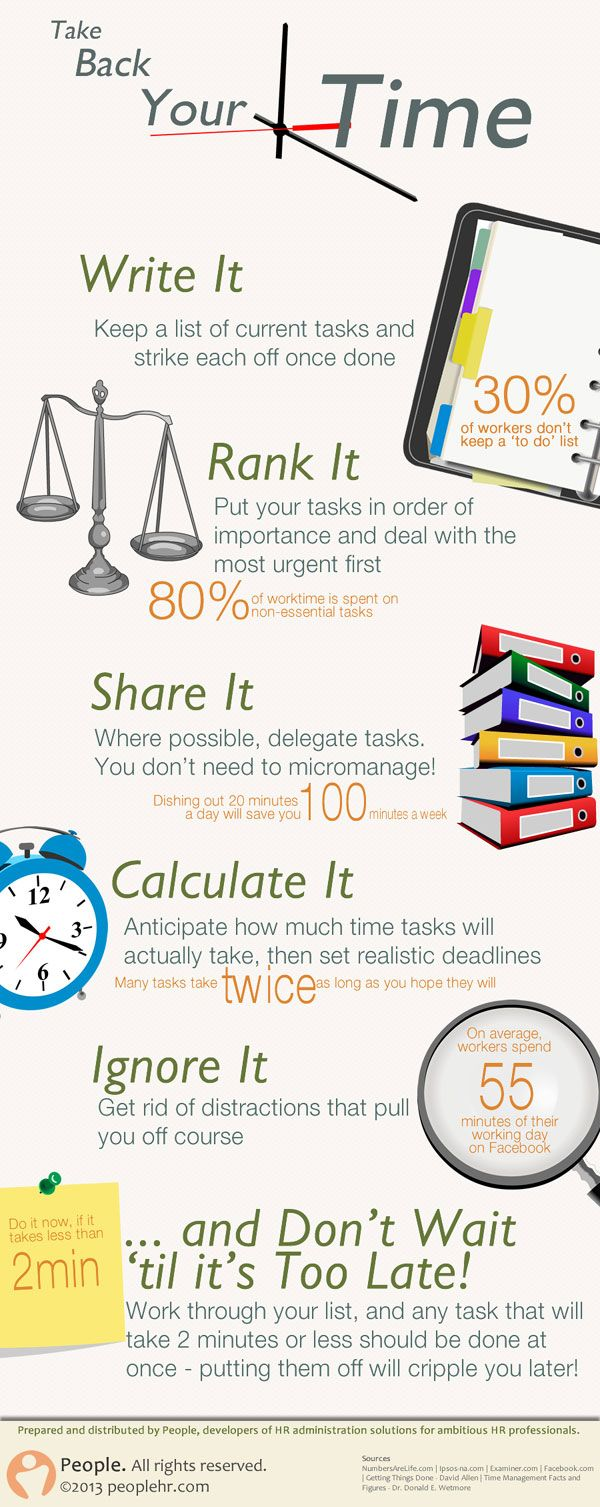 Infographic about saving time tricks