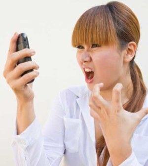 girl having social media problem on mobile