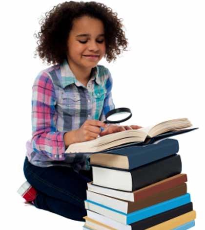 Child focusing in studies and loving it