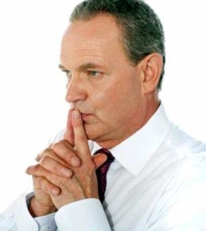 Man thinking how to stay focused and achieve goals