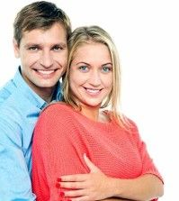A happy couple giving tips on healthy relationship