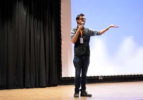 Harsh Agrawal presenting a seminar