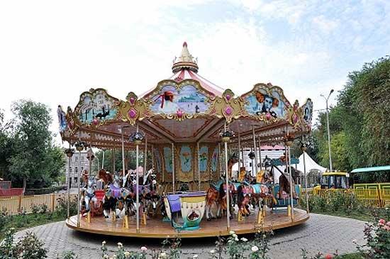 Fun ride in carnival carousel